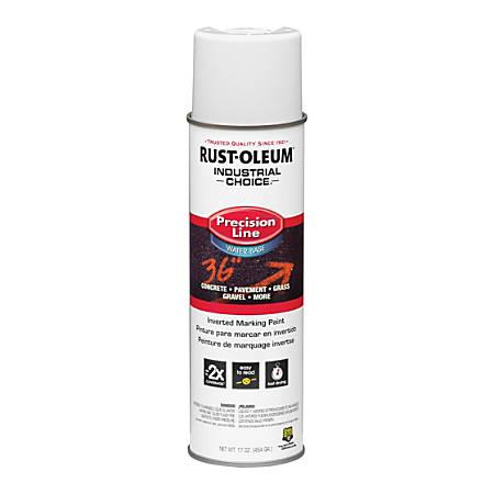 Rust-Oleum Precision Line Inverted Marking Paint Spray, White, 17 Oz