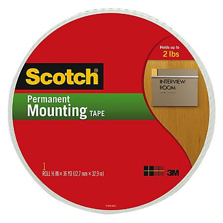 "Scotch® Permanent Mounting Tape, 3/4"" x 1368"""