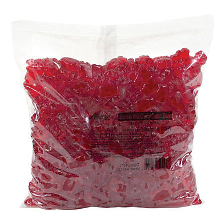 Albanese Confectionery Gummy Bears, Wild Cherry, 5-Lb Bag