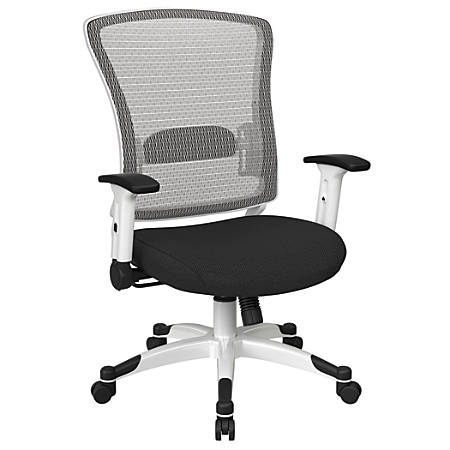 Office Star™ Space Seating Mesh Mid-Back Chair, Shale/White