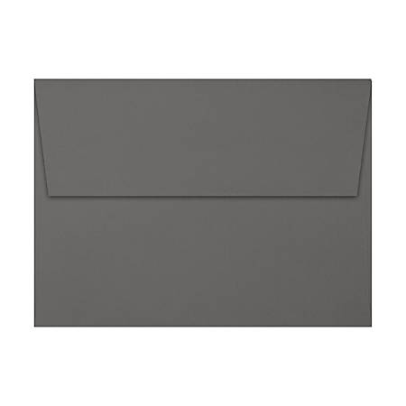 "LUX Invitation Envelopes With Peel & Press Closure, A7, 5 1/4"" x 7 1/4"", Silver/Smoke, Pack Of 250"