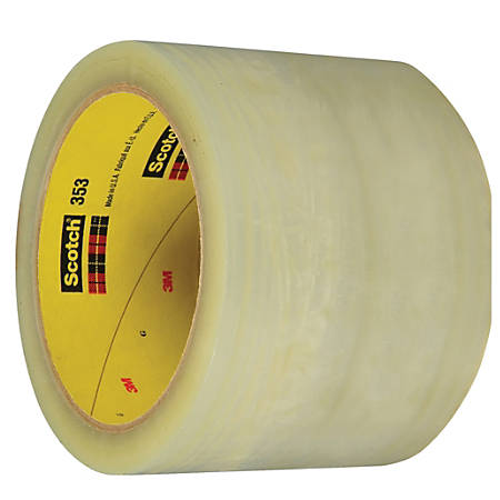 "3M™ 353 Carton Sealing Tape, 3"" Core, 3"" x 55 Yd., Clear, Case Of 24"