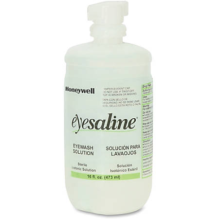 Sperian Eyesaline Eyewash Refill With Extended Flow Nozzle, 16 Oz