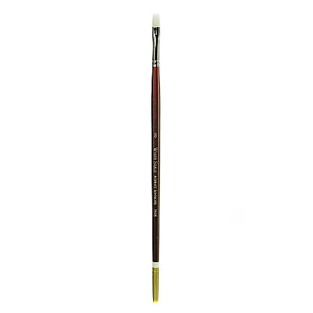 Robert Simmons White Sable Long Handle Paint Brush 760B, Size 8, Bright Bristle, Sable Hair, Brown