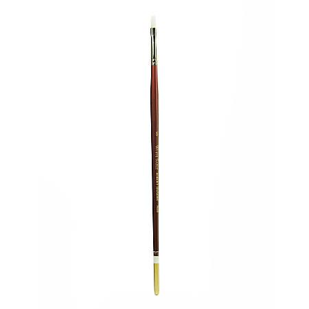 Robert Simmons White Sable Long Handle Paint Brush 760B, Size 6, Bright Bristle, Sable Hair, Brown
