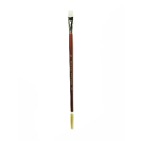 Robert Simmons White Sable Long Handle Paint Brush 760B, Size 12, Bright Bristle, Sable Hair, Brown