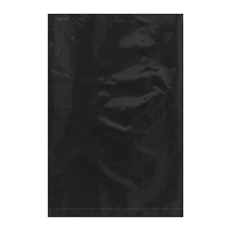 """Office Depot® Brand Flat 2-Mil Poly Bags, 6"""" x 9"""", Black, Case Of 1,000"""