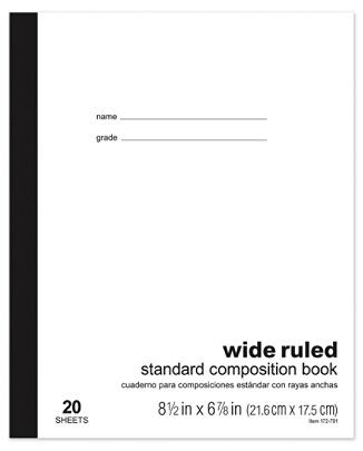 Office Depot® Brand Standard Composition Book, 6 7/8