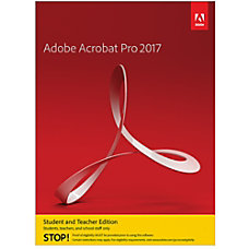 Adobe Acrobat Pro Student Teacher 2017