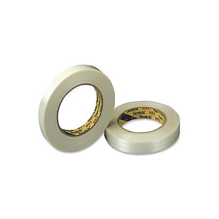 "Scotch General Purpose Filament Tape - 1"" Width x 60 Yd. Length - 3"" Core - Glass Yarn Backing - 1 / Roll - Clear"