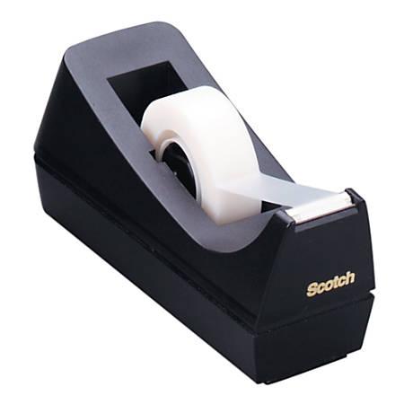 Scotch® Desk Tape Dispenser, 100% Recycled, Black