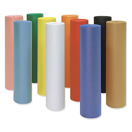 "Pacon® Decorol® Flame-Retardant Paper Roll, 36"" x 1000', Orange"