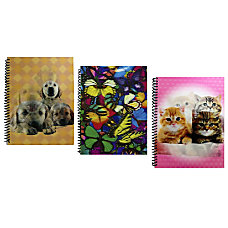 Inkology Spiral Notebooks 8 x 10