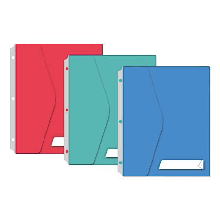 oxford 4 pocket sliding binder folder 8 12 x 11 assorted colors by