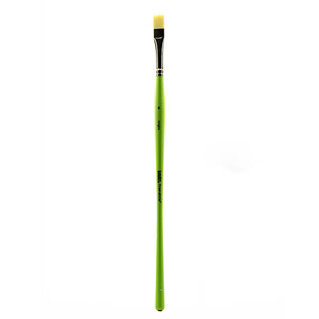Liquitex Free-Style Detail Paint Brush, Synthetic, Size 6, Bright Bristle, Green
