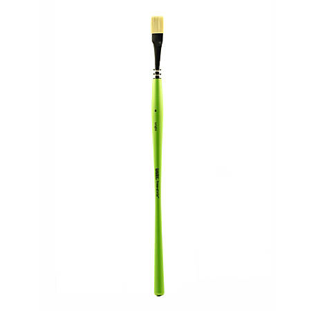 Liquitex Free-Style Detail Paint Brush, Synthetic, Size 8, Bright Bristle, Green