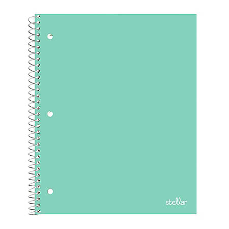 "Office Depot® Brand Stellar Poly Notebook, 8"" x 10 1/2"", Wide Ruled, 200 Pages (100 Sheets), Mint"