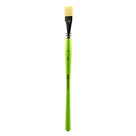 Liquitex Free-Style Detail Paint Brush, Size 12, Synthetic, Bright Bristle, Green