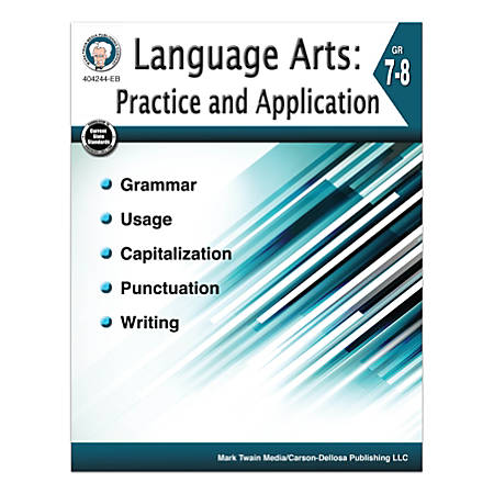 Mark Twain Media Language Arts: Practice And Application, Grades 7-8