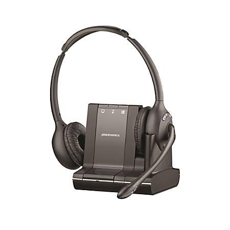 Plantronics® Savi™ 720-M Wireless Headset System, Black/Charcoal