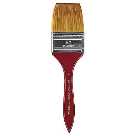 "Winsor & Newton Series 965 Paint Brush, 2"", Flat Bristle, Nylon, Copper"