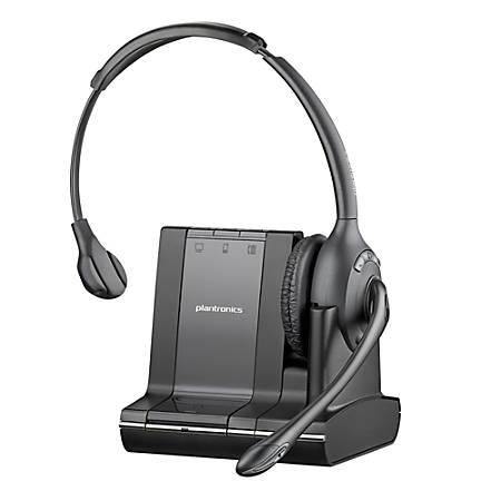 Plantronics® Savi™ 710-M Wireless Headset System, Black/Charcoal