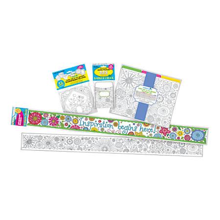 Barker Creek® Classroom Decor Set, Color Me! In my Garden