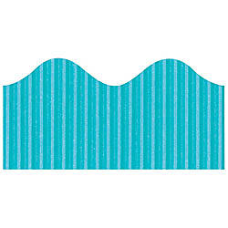 Pacon Bordette Scalloped Border Azure Blue