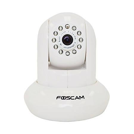 Foscam Pan/Tilt Wireless IP Indoor Camera With IR Filter, White