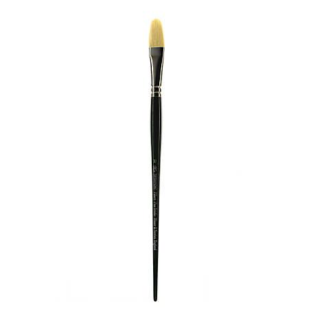 Winsor & Newton Winton Hog Paint Brush, Size 10, Filbert Bristle, Hog Hair, Green