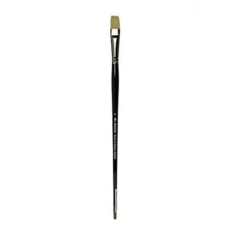 Winsor & Newton Winton Hog Paint Brush, Size 8, Short Flat/Bright Bristle, Hog Hair, Green