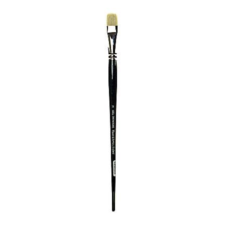 Winsor & Newton Winton Hog Paint Brush, Size 10, Long Flat Bristle, Hog Hair, Green