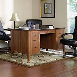 Sauder Appleton Faux Marble Top Executive