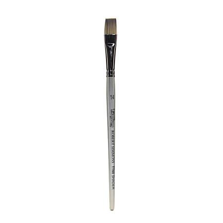 Robert Simmons TT60 Titanium Short-Handle Single-Stock Paint Brush, Size 14, Flat Shader Bristle, Hog Hair, Silver