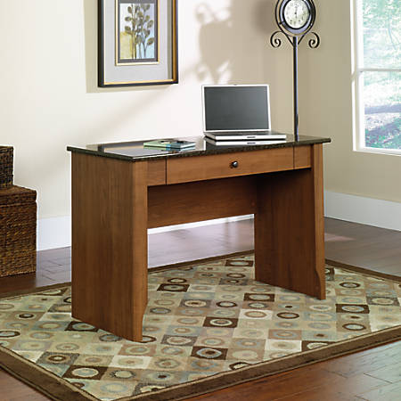 Image result for Sauder Appleton Faux Marble Top Writing Desk, Sand Pear