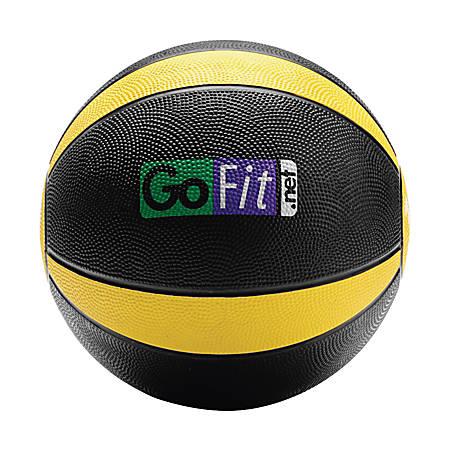 GoFit Medicine Ball, 10 Lb, Black/Yellow