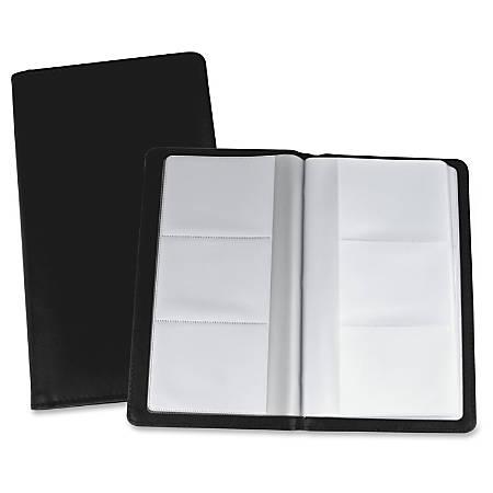 Lorell vinyl business card storage holder 7 l black by office depot lorell vinyl business card storage holder colourmoves