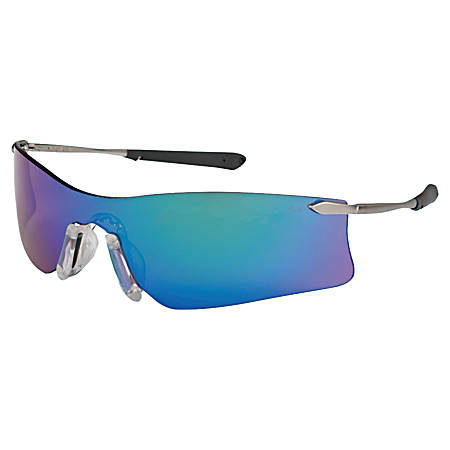 RUBICON METAL TEMPLE SAFETY GLASSES EMERALD LENS
