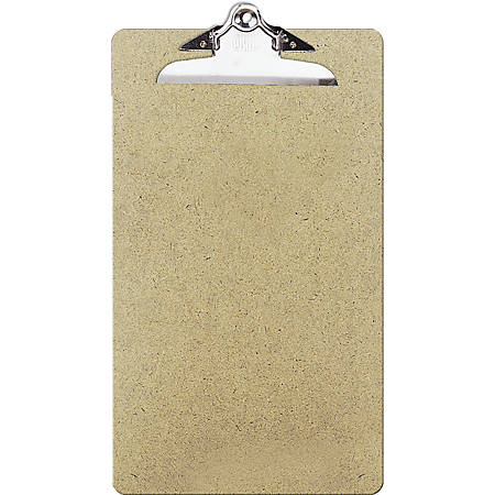 """OIC® 100% Recycled Hardboard Clipboard, Legal Size, 9"""" x 15 1/2"""", Brown"""
