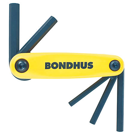 Bondhus GorillaGrip 5-Piece Fold-Up Tool Set, Inch