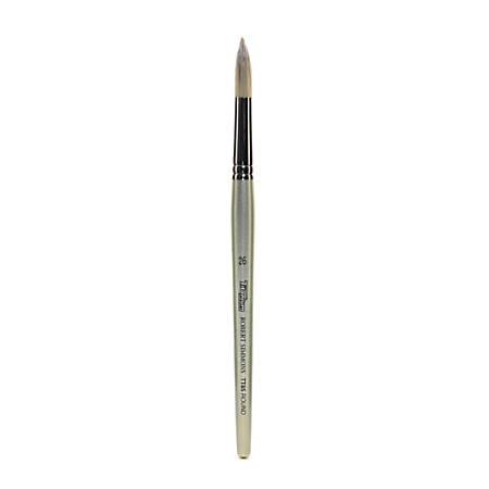 Robert Simmons TT85 Titanium Short-Handle Single-Stock Paint Brush, Size 26, Round Bristle, Hog Hair, Silver