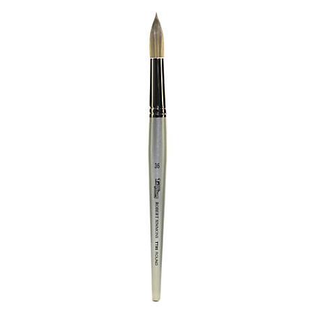Robert Simmons TT85 Titanium Short-Handle Single-Stock Paint Brush, Size 36, Round Bristle, Silver