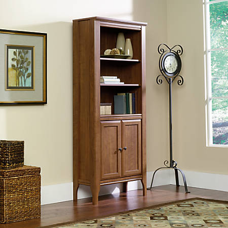 Sauder Leton Library Bookcase With Doors