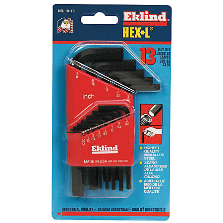 Eklind 13-Piece Short Arm L Hex Key Set