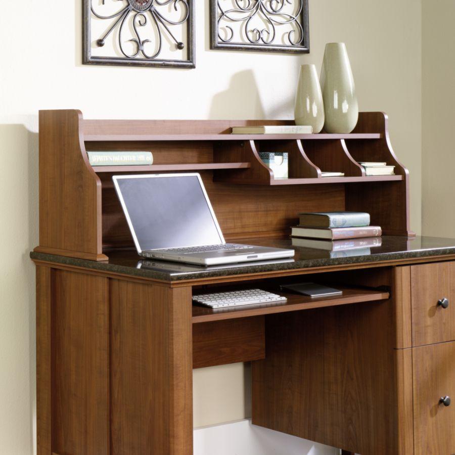 Sauder Appleton Hutch For Computer Desk Sand Pear by Office Depot