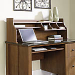Sauder Appleton Hutch For Computer Desk, Sand Pear