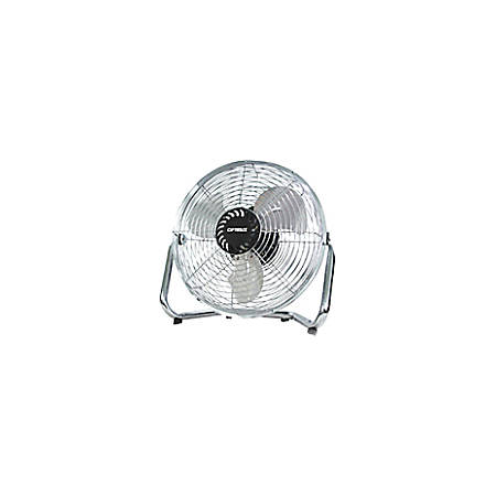 "Optimus 9"" Industrial Grade High Velocity Fan - 228.6 mm Diameter - 3 Speed - Adjustable Tilt Head - Metal, Aluminum Blade - Silver"