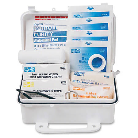 Pac-Kit ANSI #10 Weatherproof First Aid Kit, 57 Pieces, Plastic Case