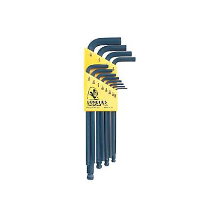Bondhus 12-Piece Long Arm Ball End L Wrench Hex Key Set