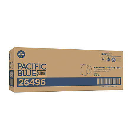 """Pacific Blue Ultra™ by GP PRO High Capacity Paper Towel Roll, Recycled, 7-7/8"""" x 1,150', Brown, Case Of 3 Rolls"""